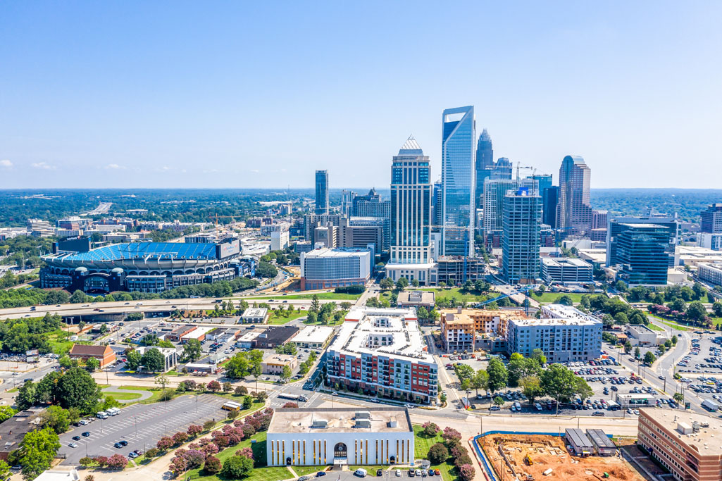 uptown charlotte nc aerial photo